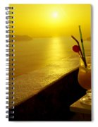 Santorini Sunset Spiral Notebook