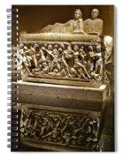 Sarcophoghus Reflected In Antalya Archeological Museum-turkey  Spiral Notebook
