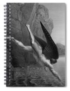 Satan Plunges Into The River Styx Spiral Notebook