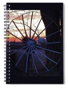 Satellite Sunset Spiral Notebook