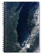 Satellite View Of Lake Michigan Spiral Notebook