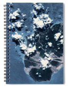 Satellite View Of Montserrat Island Spiral Notebook
