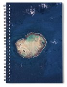 Satellite View Of Rocas Atoll In South Spiral Notebook