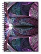 Satin Flame Spiral Notebook