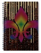 Satin Lily Symbol Digital Painting Spiral Notebook