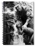 Saturday Bath Spiral Notebook