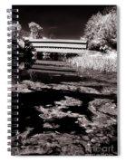 Saucks Bridge Down Stream Spiral Notebook