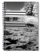 Saucks Bridge - Pond - Bw Spiral Notebook