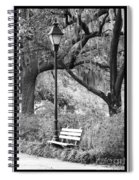 Savannah Afternoon - Black And White Spiral Notebook