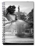 Savannah Fountain - Black And White Spiral Notebook
