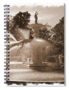 Savannah Fountain In Sepia Spiral Notebook