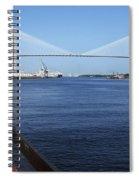 Savannah River Bridge Ga Spiral Notebook