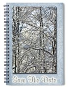 Save The Date - Winter Wedding Spiral Notebook