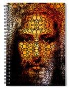 Savior - Stone Rock'd Jesus Art By Sharon Cummings Spiral Notebook