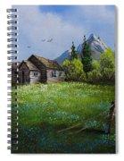 Sawtooth Mountain Homestead Spiral Notebook