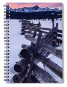 Sawtooth Sunset In Winter Spiral Notebook