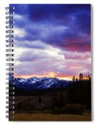 Sawtooth Sunset Panorama Spiral Notebook