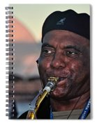 Sax In The City Spiral Notebook
