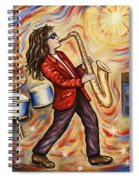 Sax Man Spiral Notebook