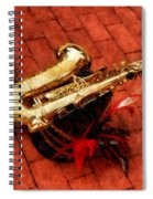 Saxophone Before The Parade Spiral Notebook