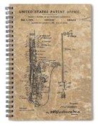 Saxophone Patent Design Illustration Spiral Notebook