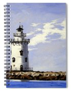 Saybrook Breakwater Lighthouse Old Saybrook Connecticut Spiral Notebook