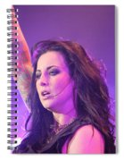 Saying Goodnight To Her Fans Spiral Notebook