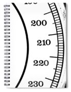 Scale Numbers Spiral Notebook