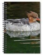 Scaly-sided Merganser Female Spiral Notebook