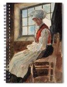 Scandinavian Peasant Woman In An Interior Spiral Notebook
