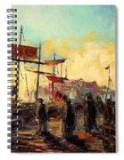 Scarborough Harbour Loading Spiral Notebook