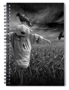 Scarecrow And Black Crows Over A Cornfield Spiral Notebook