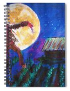 Scarecrow Dancing With The Moon Spiral Notebook