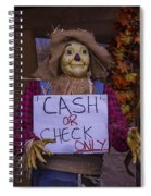 Scarecrow Holding Sign Spiral Notebook