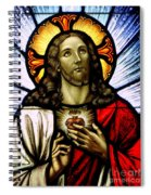 Scared Heart Of Jesus Spiral Notebook