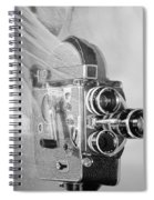 Scarf Camera In Black And White Spiral Notebook