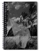 Scarf In The Winds In Black And White Spiral Notebook