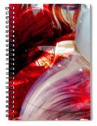 Scarlet Swirls Abstract Spiral Notebook
