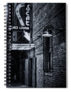 Scat Lounge In Cool Black And White Spiral Notebook
