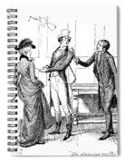 Scene From Pride And Prejudice By Jane Austen Spiral Notebook