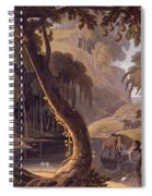 Scene In Sitsikamma - Elephants Spiral Notebook