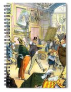 Scene In The Louvre 1911 Spiral Notebook