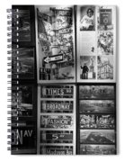 Scenes Of New York In Black And White Spiral Notebook