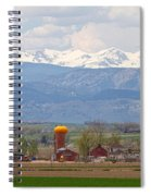 Scenic View Looking Over Anderson Farms Up To Rockies Spiral Notebook