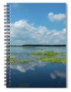 Scenic View Of A Lake Against Cloudy Spiral Notebook