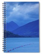 Scenic View Of A Lake At Dusk, Lake Spiral Notebook