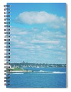 Scenic View Of Atlantic Ocean Spiral Notebook
