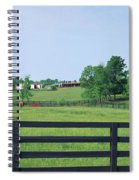 Scenic View Of Horse Farm, Woodford Spiral Notebook