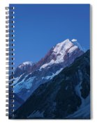 Scenic View Of Mountain At Dusk Spiral Notebook