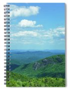 Scenic View Of Mountain Range, Blue Spiral Notebook